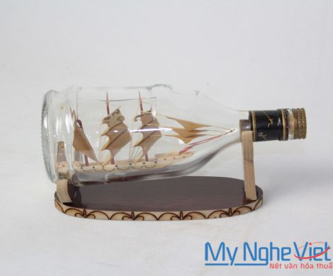 Model boat in bottle MNV-MHC03