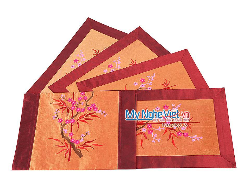 SILK TABLECLOTH SET (SHORT)- MNV-KLTB09