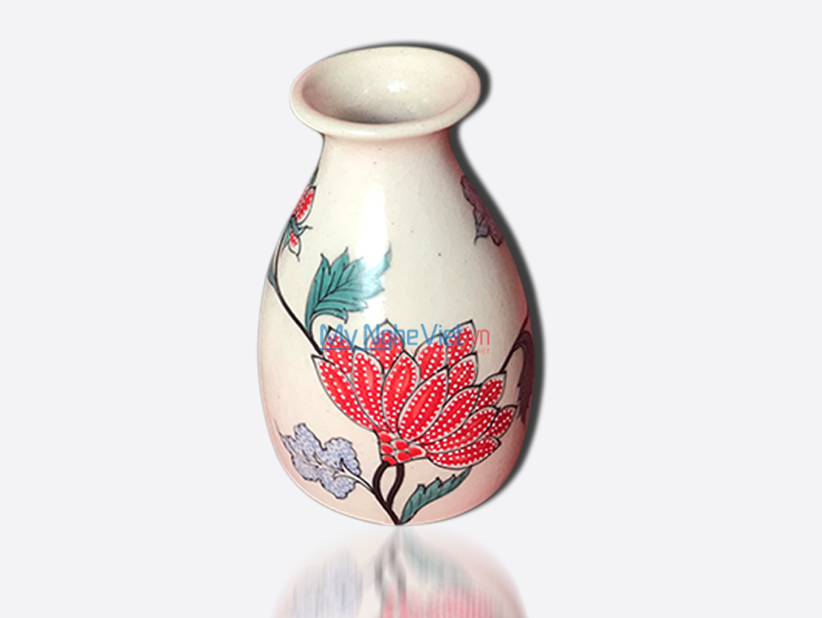 Hand Painted Flower Vase 4