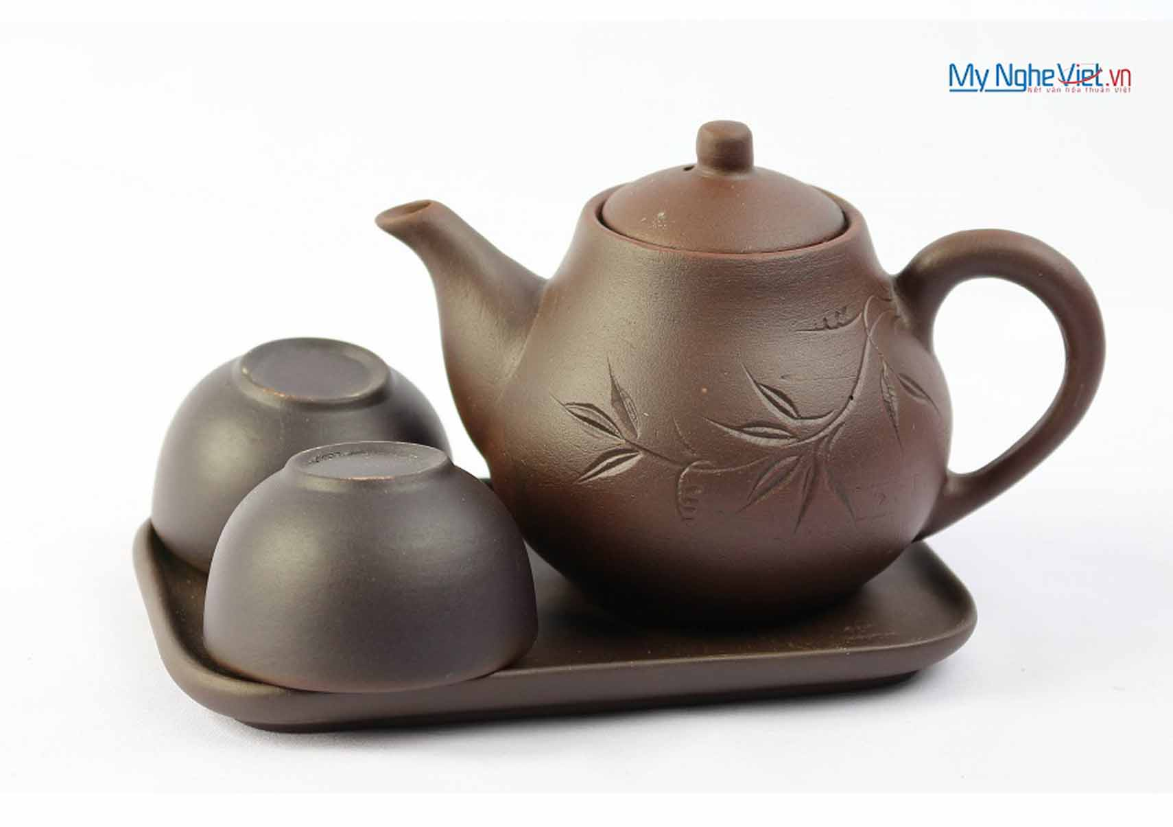 The double – cup ceramic tea set MNV-TS048