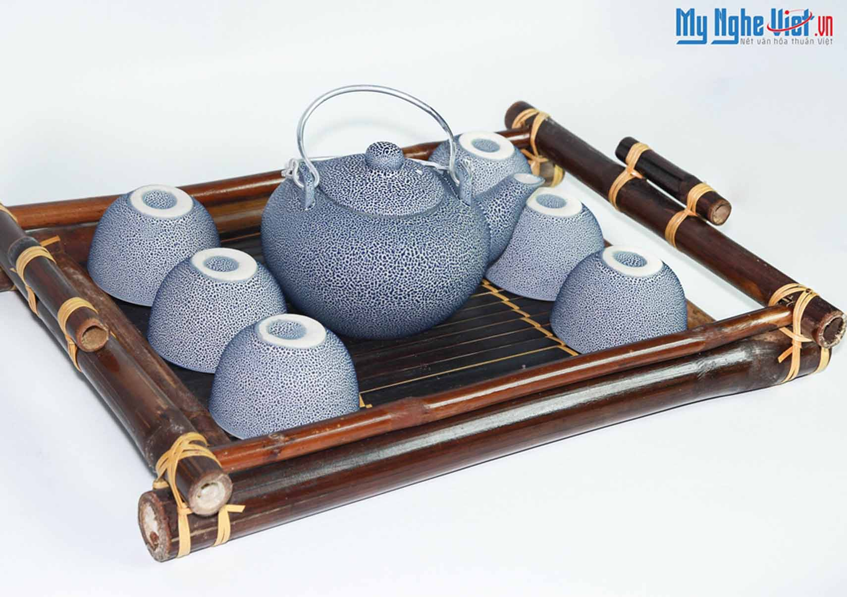 Bat Trang Ceramic Tea Set Premium Reef MNV-BT151
