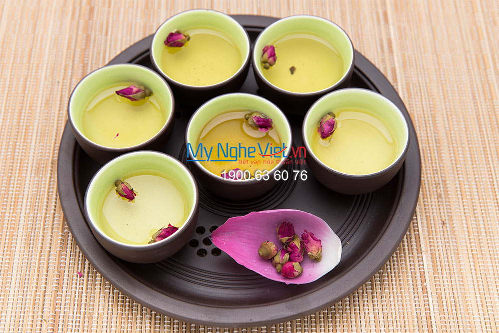 Tử Sa Tea set with pottery tray no.1 - MNV-TS044