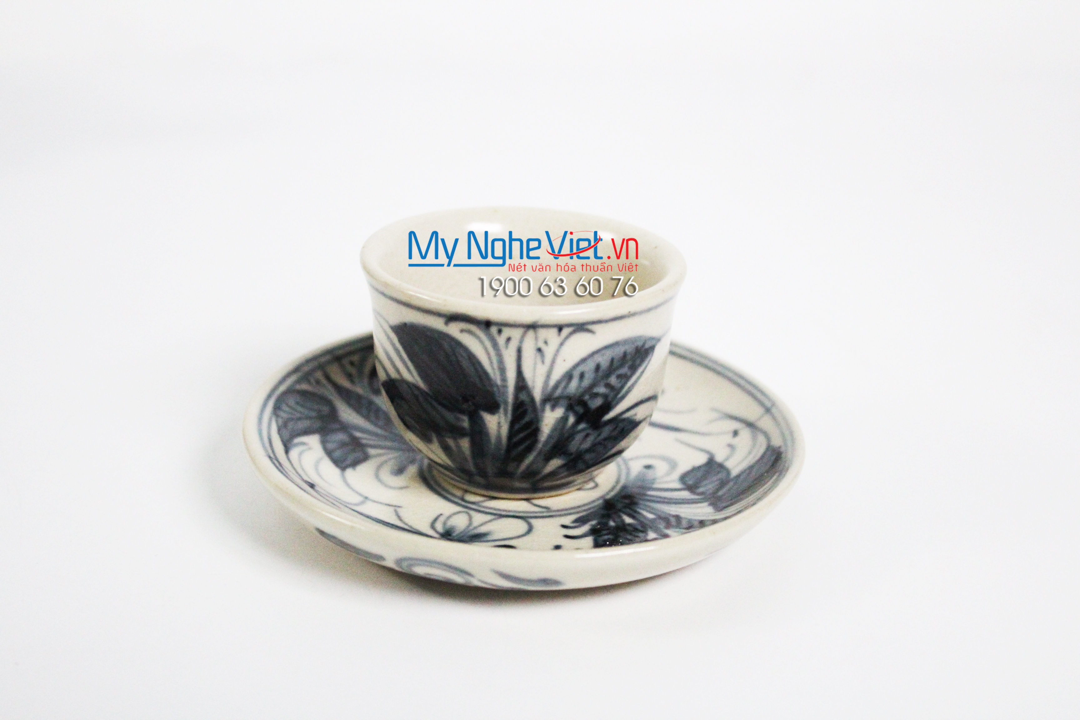 Tea set with crackle glaze and dragonfly pattern MNV-TS521