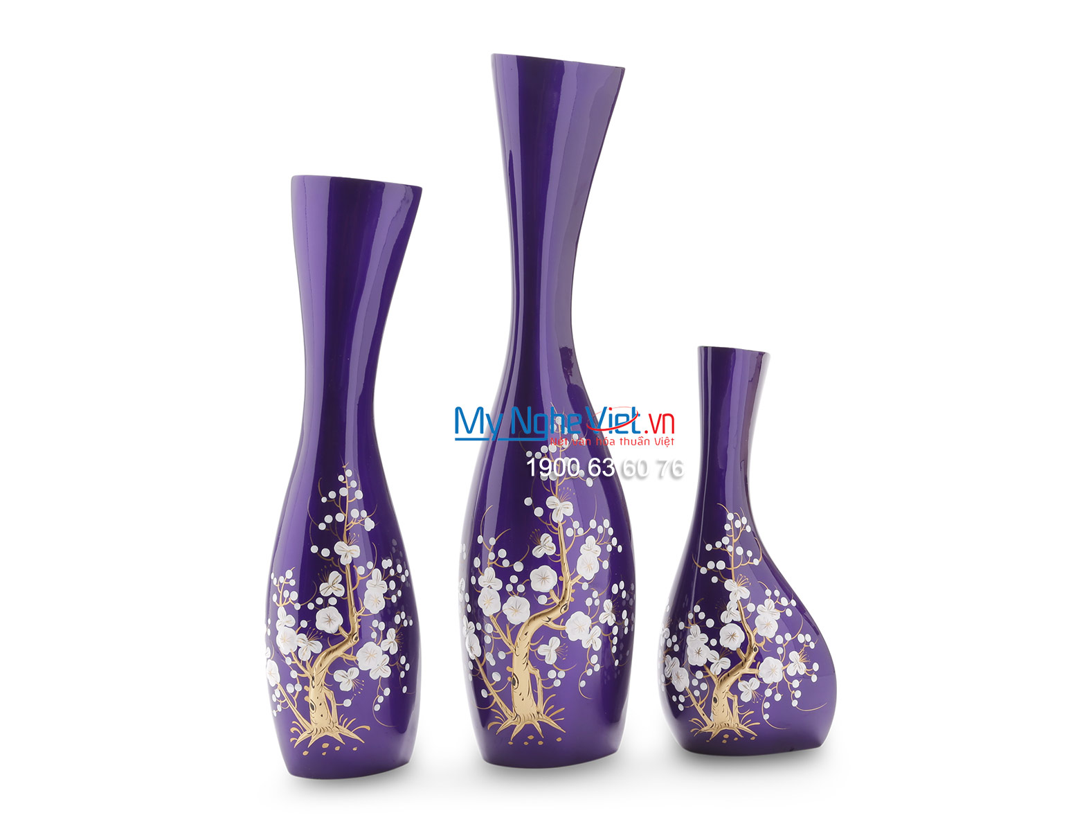 Lacquer Flower Vase (Blue) LHSM154-1
