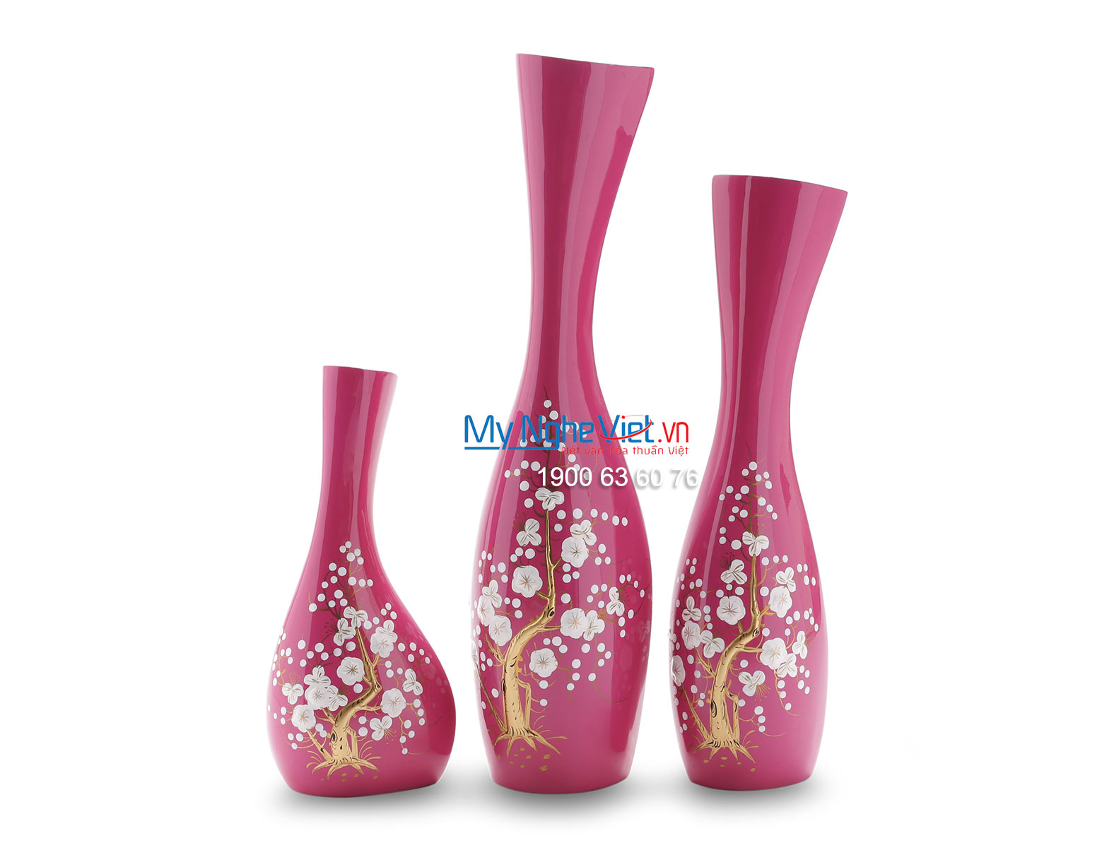Lacquer Flower Vase (pink) LHSM154