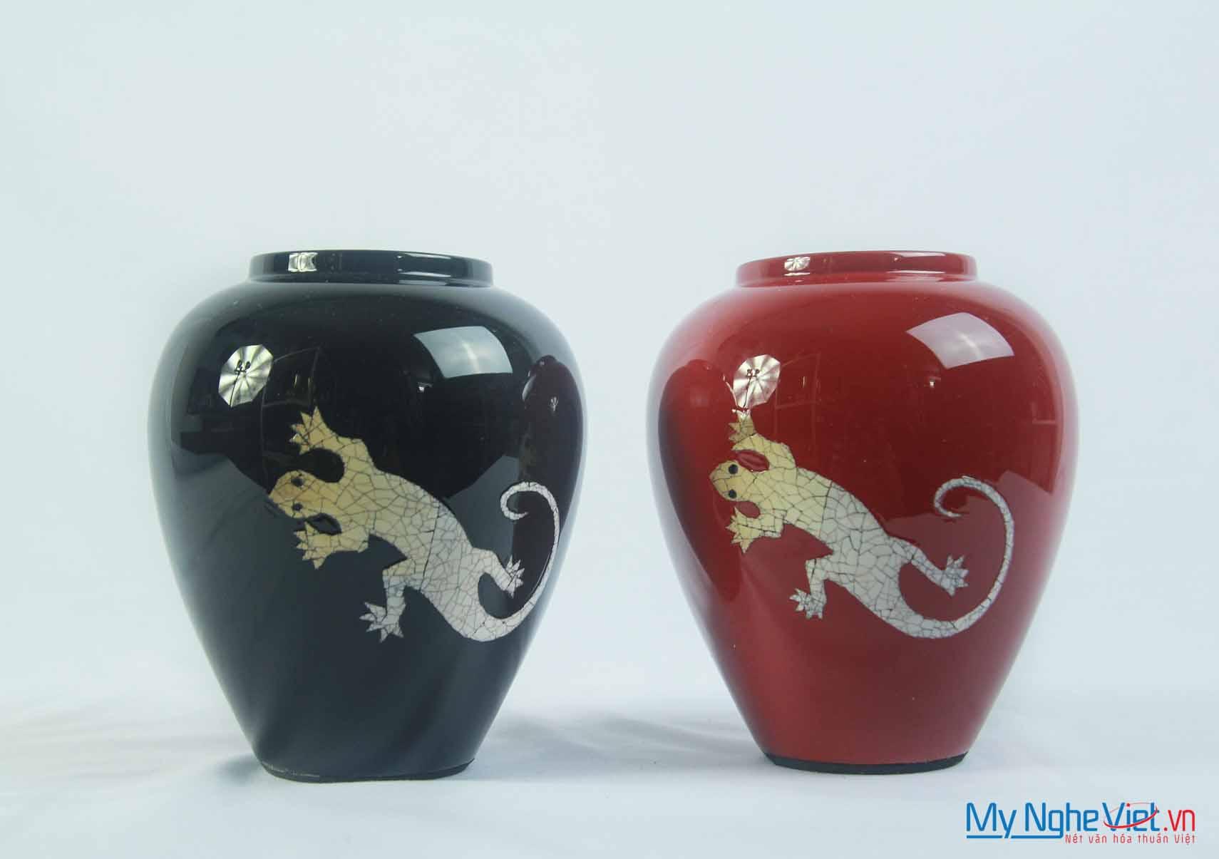 Lacquer Flower Vase MNV-LHSM95