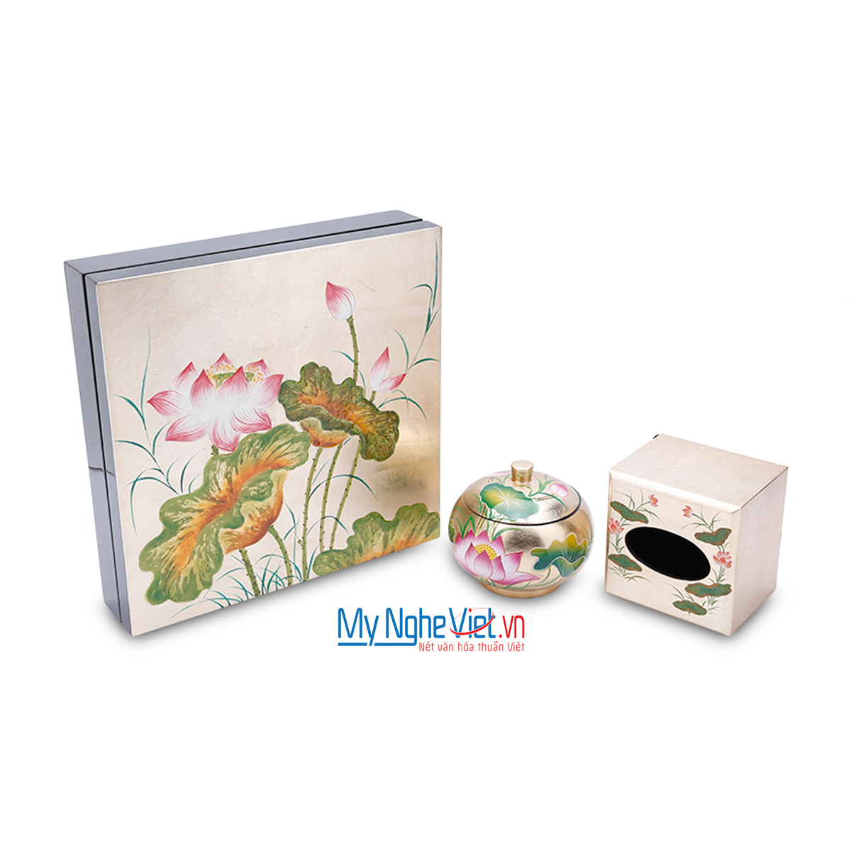 Tray for containing jam in Tet holiday with lotus pattern MNV - QT104