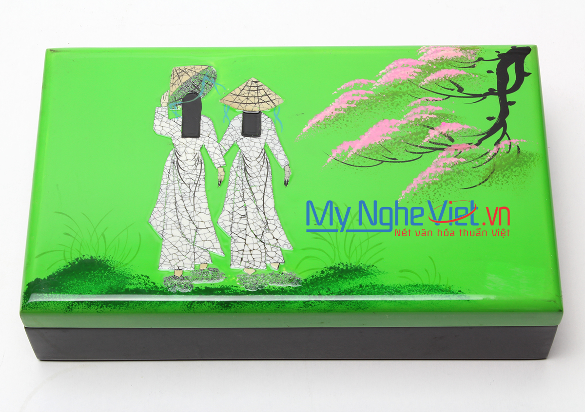 Jewellery Box with the pattern of two girls in Ao Dai MNV-SMA473