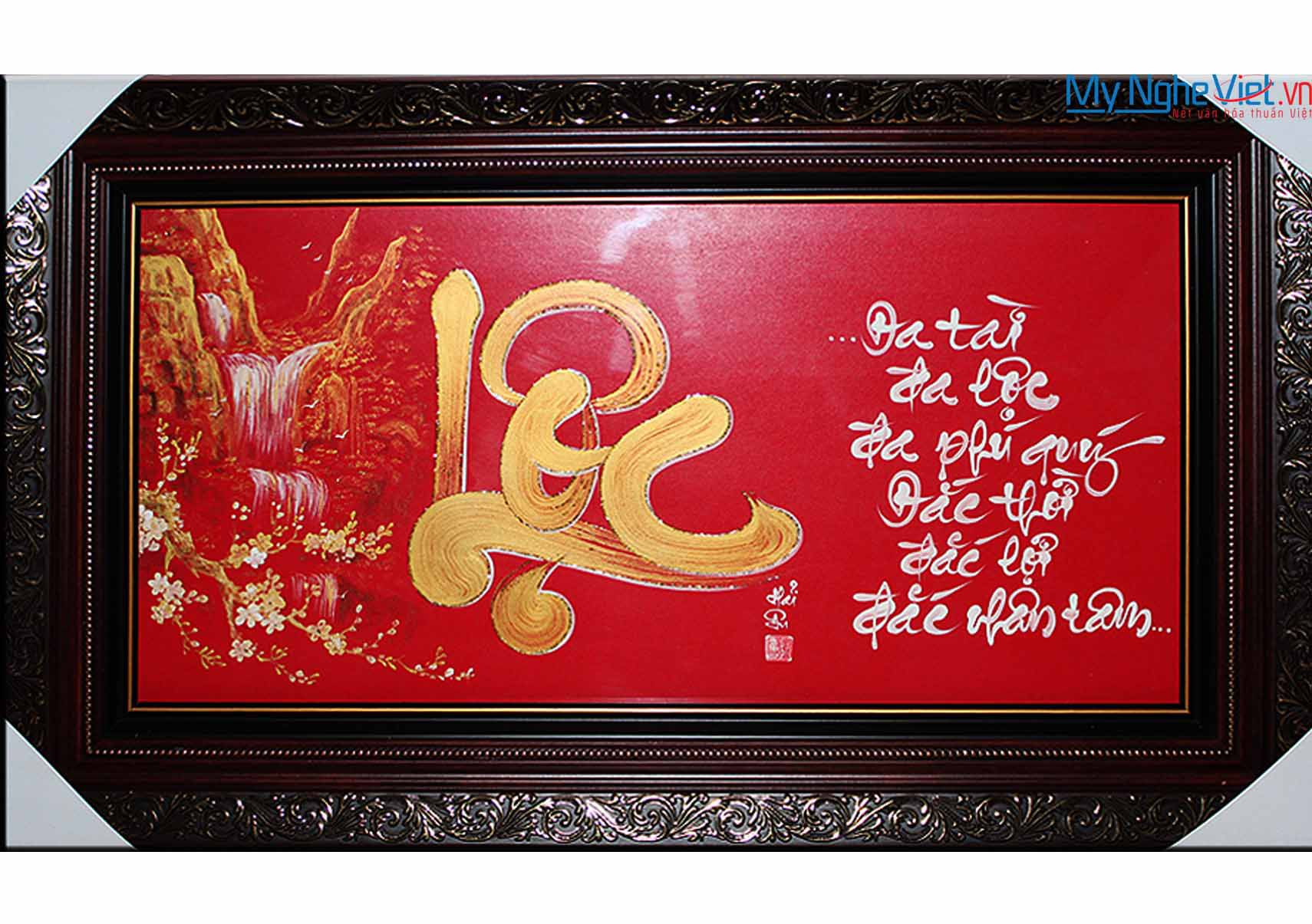 Calligraphy painting with word Lộc MNV-TP013