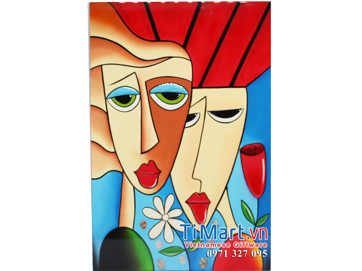 Lacquer Picasso Painting MNV-SMHD30452-4