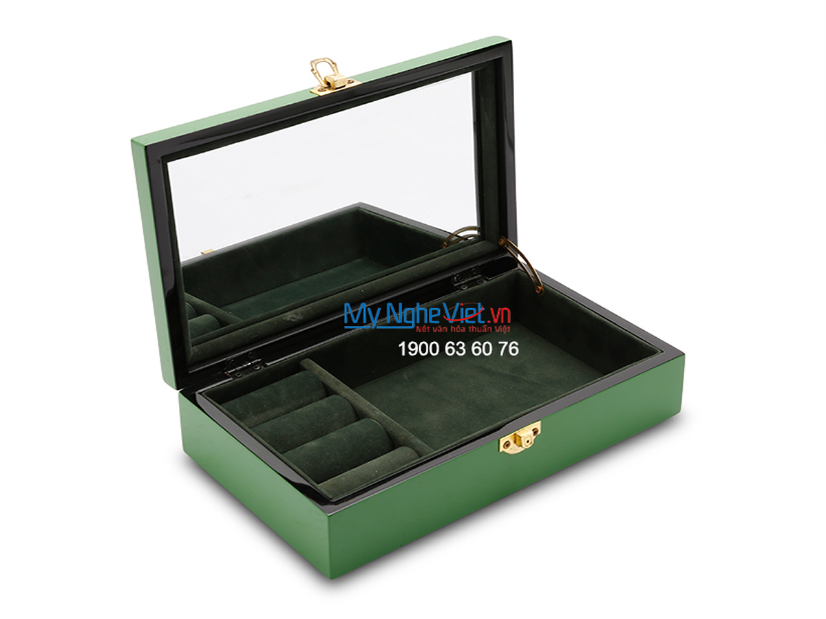 Feather Lacquer Painting Jewellery Box MNV-SPCC11