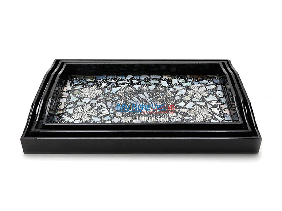 Dragonfly Studded Lacquer Painting Tray MNV_SMTR002-33