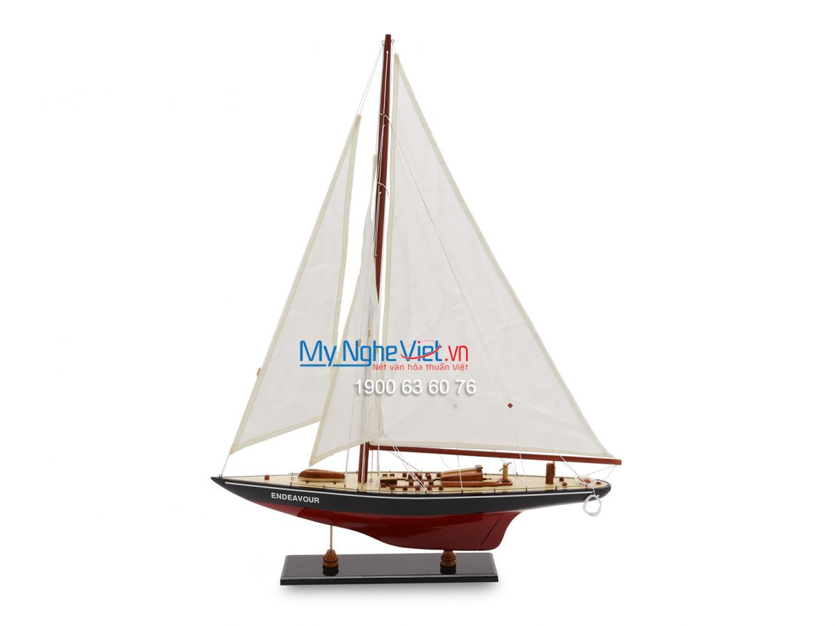 Red and White Endeavor Boat Model (Body 50cm) MNV-TB23/2