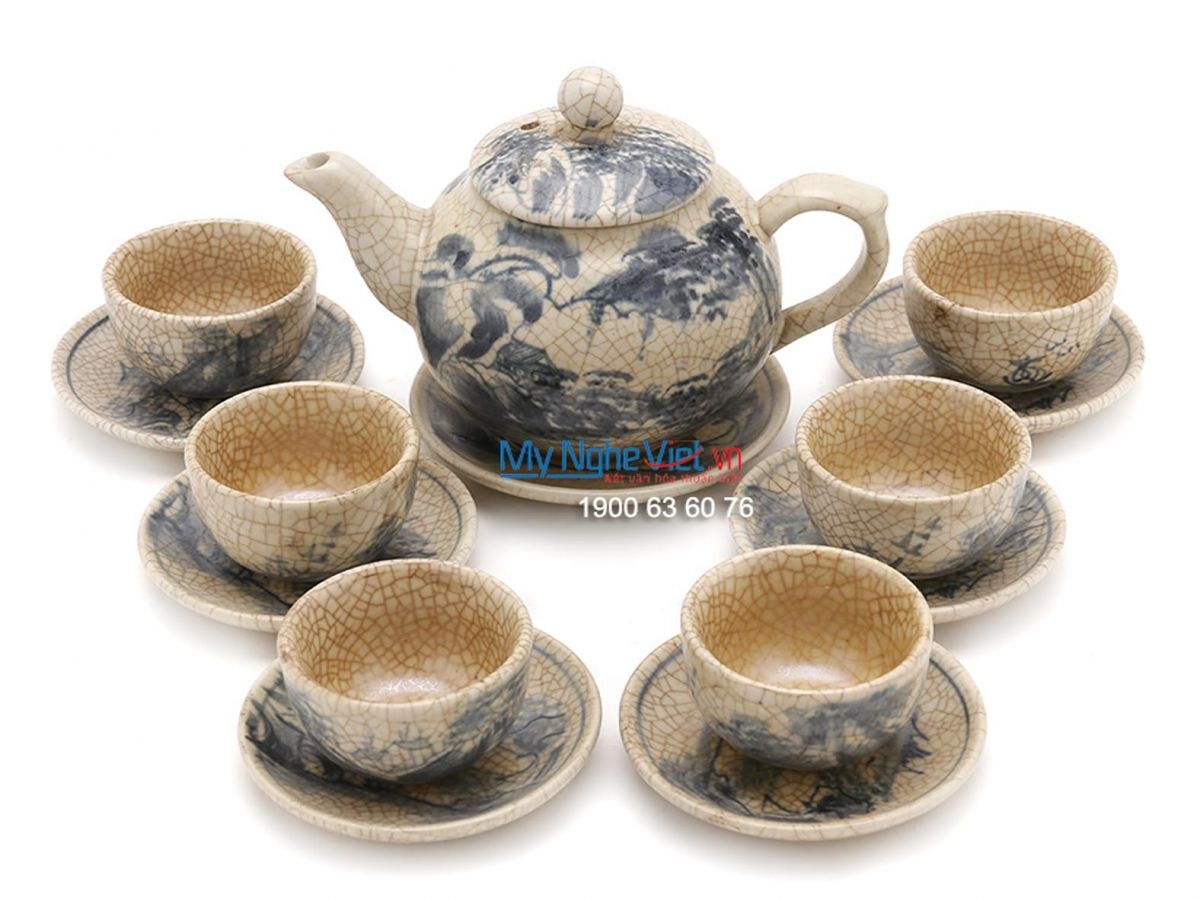 Tea Set with Crackle Glaze (small size) MNV-TS160-1