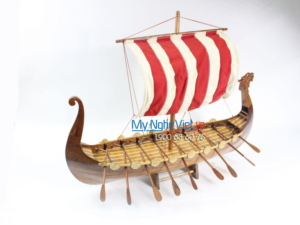 Viking Antique Model Ship - Vietnamese Products (body 60cm) MNV-MB01